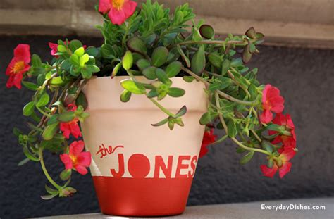Personalized Planter by Diy Personalized Planter Everyday Dishes Diy