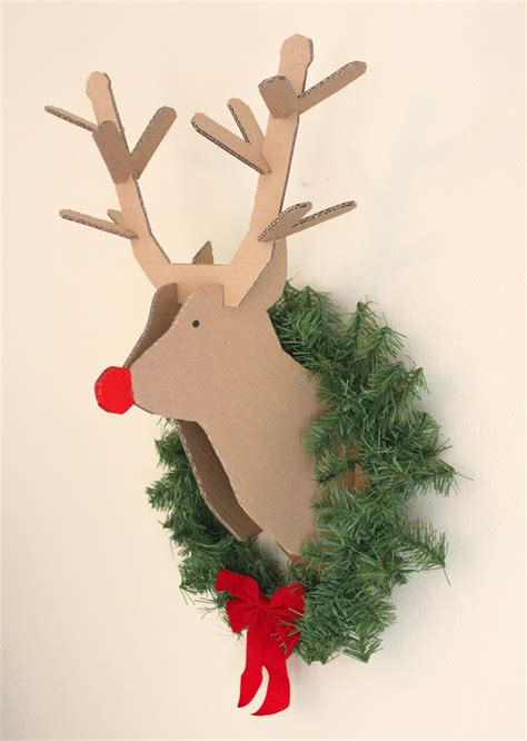 creatively christy diy cardboard reindeer
