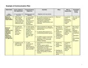 business communication plan template best photos of communication plan exle exle