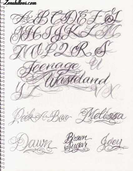 letras goticas para realizar letras goticas cursivas caligrafia tatto