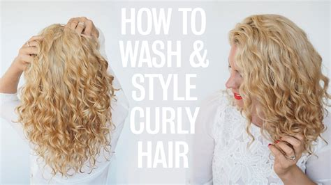 wash leave wavy hair how to wash and style curly hair youtube