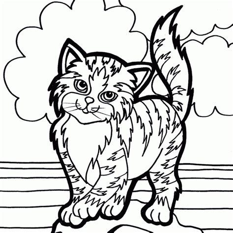 imagenes para colorear gatitos dibujos para colorear de mascotas dibujos de mascotas