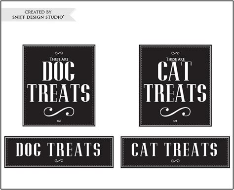 treat label template friday freebie vintage cat treat label designs