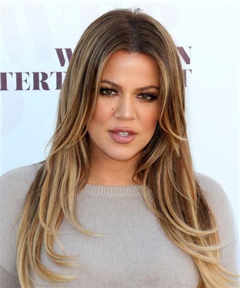 Khloe Kardashian Long Straight Formal Hairstyle   Medium
