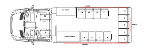 bus floor plans pinnacle bus floor plans
