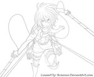 2013 2014 Braeven Mikasa Ackerman Charakter From Attack On Titan sketch template