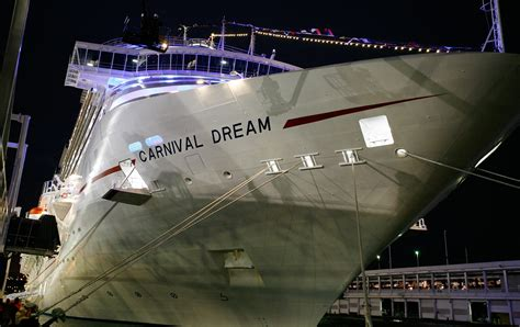 dream boat carnival carnival cruise ship dream flooded after a water line