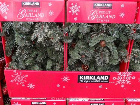 kirkland signature 9 ft christmas tree kirkland signature prelit garland