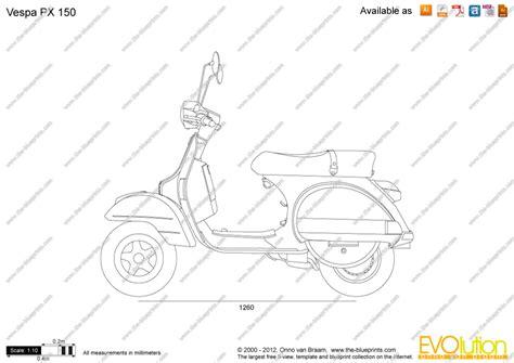 Scale Drawing Program modern vespa vespa px outline drawing