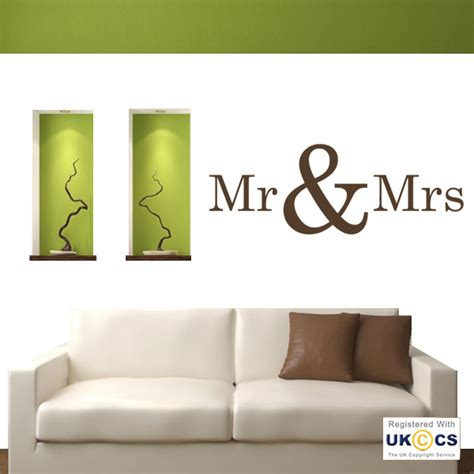 mr wall stickers mr mrs bedroom quote wall stickers decals vinyl