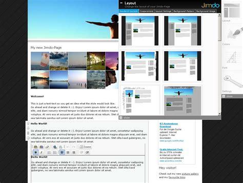 layout jimdo html jimdo web editor