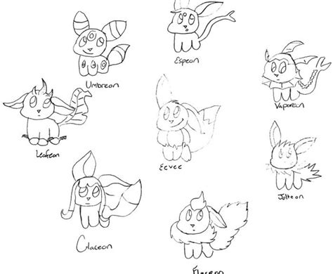 pokemon coloring pages of eevee evolutions pokemon coloring pages eevee evolutions part 1 free