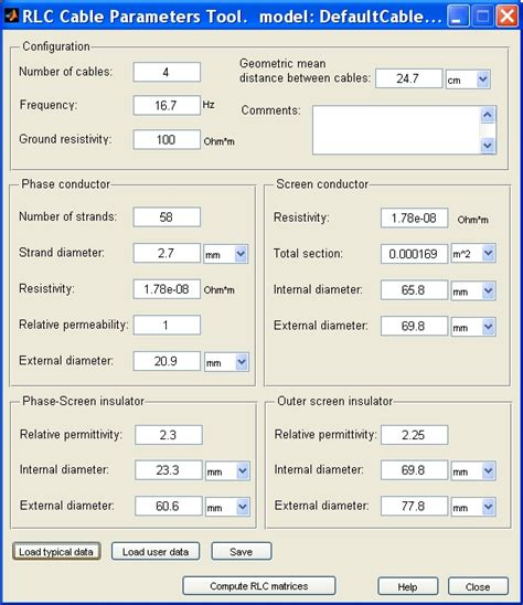 calculate inductance of a cable compute rlc parameters of radial copper cables with single screen based on conductor and