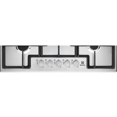 piani cottura 5 fuochi ghisa electrolux egs7536x piano cottura a gas 75 cm 5 fuochi