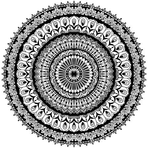 Muster Mandala Vorlagen sch 246 nes und komplexes muster mandala