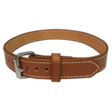 Handmade Belts Usa - gun belt bridle leather 14 ounce stainless