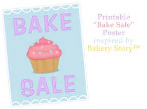 bake sale poster inspired by bakery story bake sale