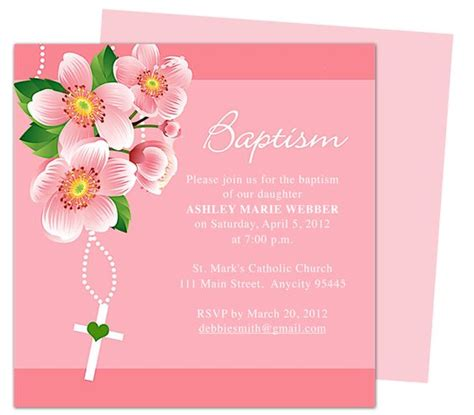 dora baby baptism invitation templates edits easily in