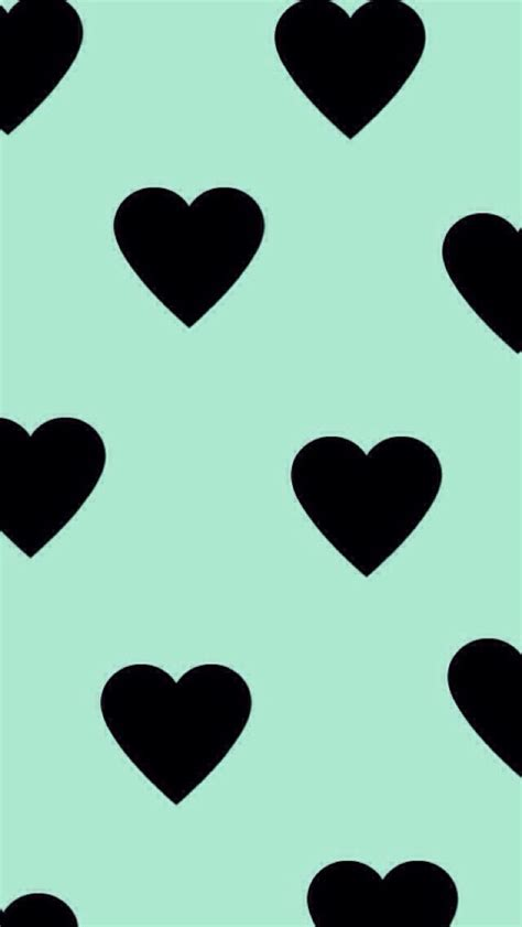 mint green pastel heart pattern epoxy sticker