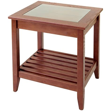 End Tables With Glass Top by Glass Top Display End Table Manchester Wood