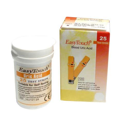 Easy Touch Blood Uric Acid Asam Urat spek harga easy touch test strips blood uric acid