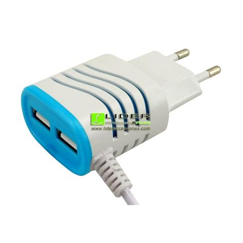 Travel Charger Dual Output Adapter Dock Kabel Micro Berkualitas 1 wholesale ac travel charger adaptor with dual usb and cable output