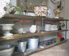 Country Rustic Home Decor Anythingology Diy Industrial Shelves
