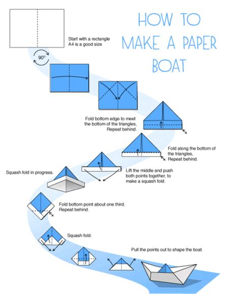 how to make a paper boat pdf how to make a paper boat kid stuff pinterest origami