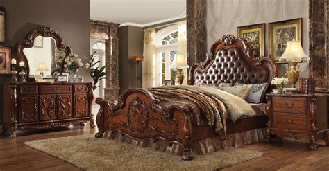 cherry finish bedroom furniture bedroom set dresden collection cherry oak finish casye