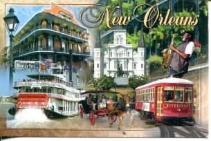 collect roc usa postcard new orleans