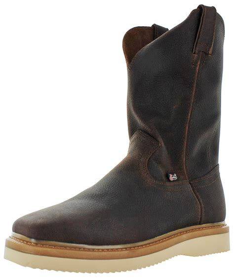 justin pull on work boots justin original s pull on square toe work boots