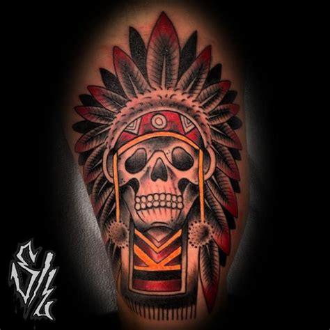 tattoo old school indian arm old school totenkopf indisch tattoo von sketchy lawyer