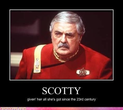 Scotty Meme - alien punk star trek quot more power quot