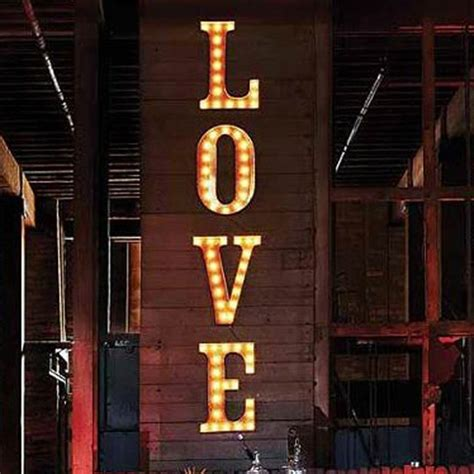vintage marquee lighted letters eclectic artwork