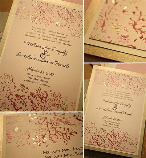 Pink And Gold Wedding Invitations Uk