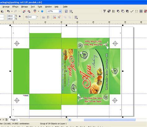 desain kemasan produk dengan coreldraw sel desain box kemasan coreldraw