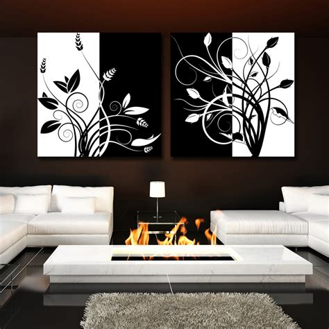 wall decor black and white 2 piece abstract black and and white tree home decor