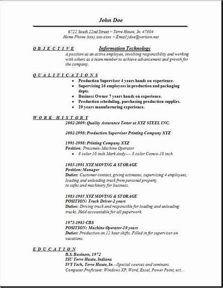 excelent example of entry level tech resumes resume example template