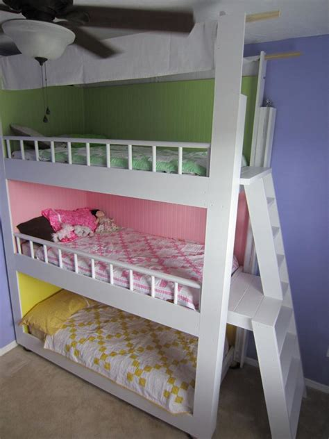 3 bunk beds custom made triple bunk beds