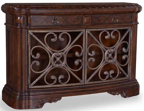 accent console table valencia console table with 2 drawers and metal accents by