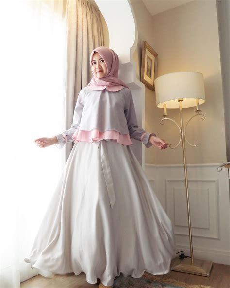 Model Baju Muslim Modern Terbaru gambar desain gaun perempuan koleksi gambar hd