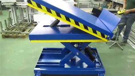 pedana sollevatrice piattaforma elevatrice inclinabile lifting table einen