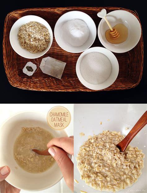 oatmeal diy mask chamomile oatmeal mask freutcake
