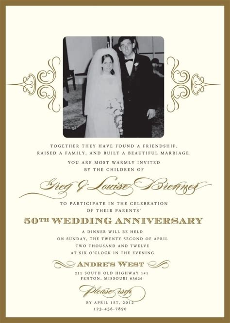 7 Awesome Wedding Invitations by 50th Anniversary Invitation Templates 7 Unique