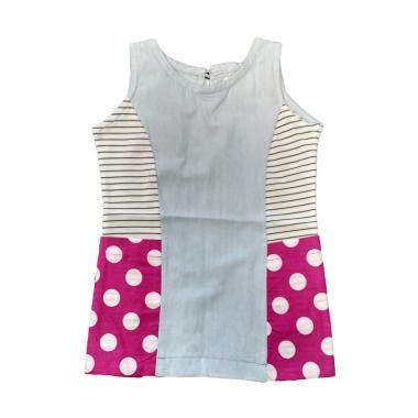 Dress Biru Garis Garis D042 jual pakaian baju anak perempuan branded harga bersaing