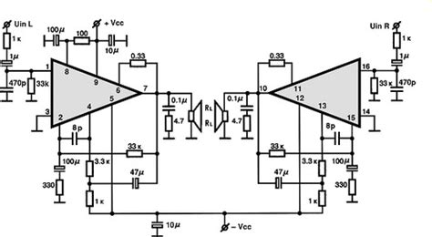 an214 audio integrated circuit data datasheet stk463 audio ic electronic circuits tv schematics audio