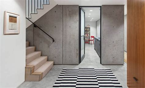 exposed concrete walls exposed concrete walls give the interior an edgy modern look decoist