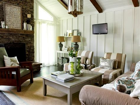 cottage living rustic cottage living room milk and honey home hgtv