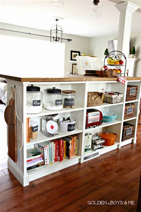 kitchen island ikea hack remodelaholic 10 ingenious ikea hacks for the kitchen
