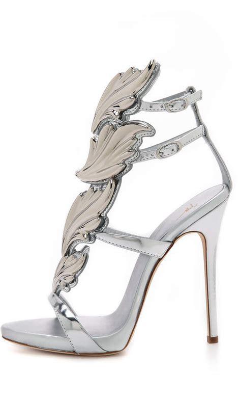 giuseppe zanotti wing sandals giuseppe zanotti metal wing sandals shopstyle